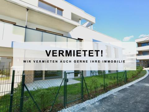 VERMIETET- Erstbezug: Moderne 2 Zimmer-Gartenwohnung mit Terrasse in einer exklusiven Atmosphäre!