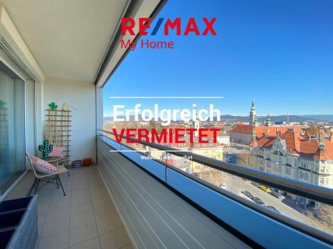 Über den Dächern von Klagenfurt: Helle 3-Zimmer-Wohnung mit Loggia
