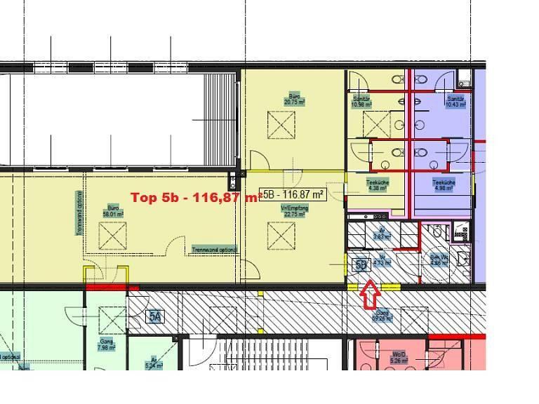 Grundriss Top 5b, 116,87 m² -